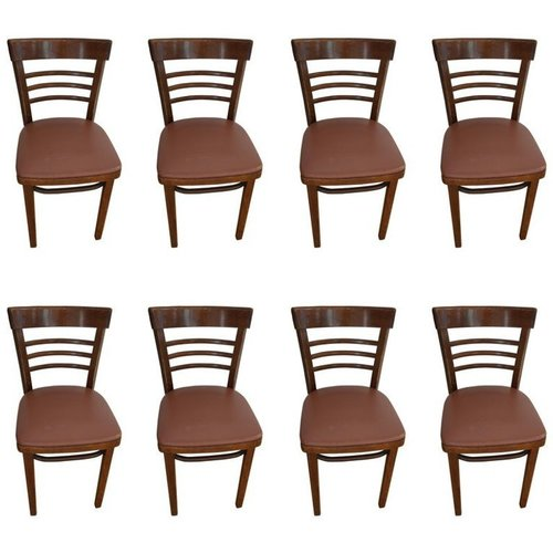 Thonet Cafe Bistro Chairs, Restaurant Chairs, Armless Chairs, comfort chairs, Set of 8.