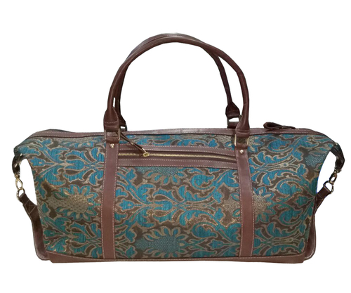 Leaf Printed Duffel Bag Shoulder Bag