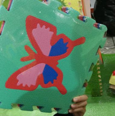 Baby Playmats a   Floor Mat w/ Removable Cartoon Animals a   9 Tiles Exercise Mat Solid Foam EVA Puzzle Play Mats