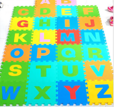 Foam Mat Puzzle Piece Play Mat Set Safe for Kids to Play and Learn Great for Nurseries, Play Rooms, Gyms, Day Care, Classroom