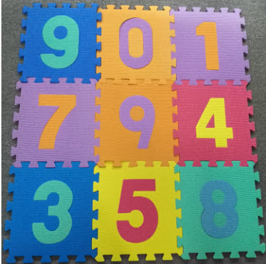 Baby Foam Play Mat (36-Piece Set) 5×5 Inches Interlocking Alphabet and Numbers Floor Puzzle Colorful EVA Tiles Girls