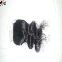 Virgin  Lace Closure Black Women Hair
