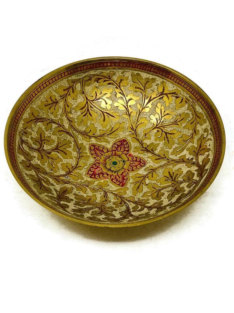 Brass Enamel Bowl