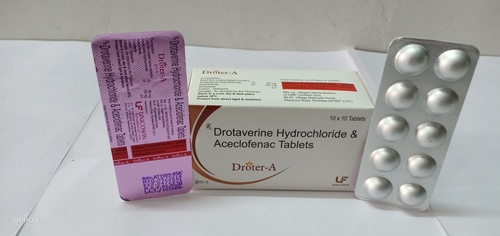 Drotaverine 80mg & Aceclofenac 100mg Tablets