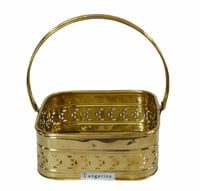 Brass Square Basket