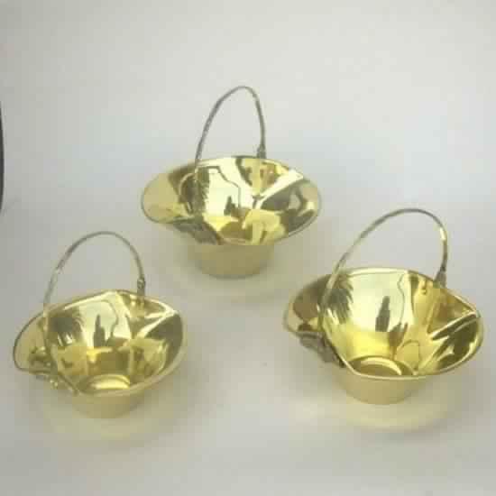 Brass Basket Set