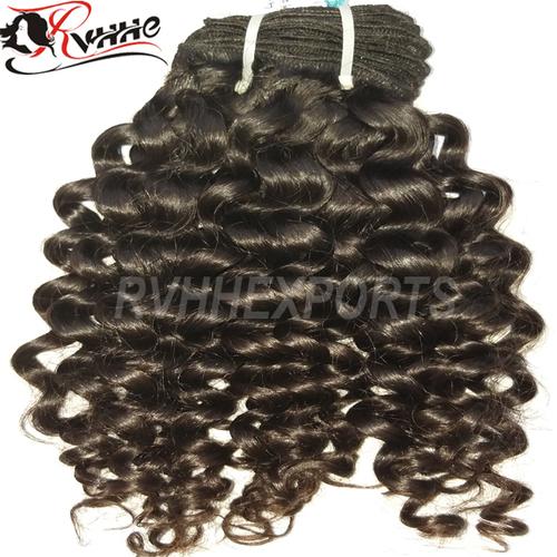 Cheap Virgin Human Hair Weaves Curly hair
