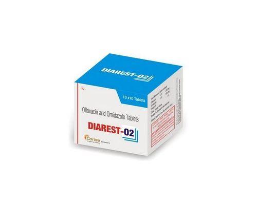 DIAREST-O2 TABS-OFLOXACIN 200MG+ORNIDAZOLE 500