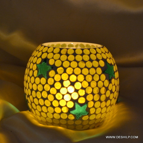 Yellow Color Glass Votive