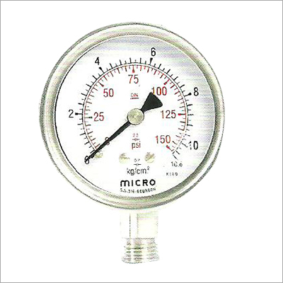 63 MM Bottom Mounting Weather Proof Pressure Gauge