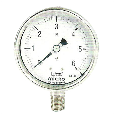 100 MM Bottom Mounting Weather Proof Pressure Gauge