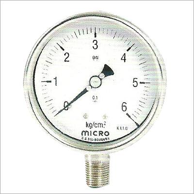 100 MM Bottom Mounting Weather Proof Pressure Gauge