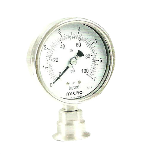 100 MM Triclover Sealed Diaphragm Sealed Pressure Gauge