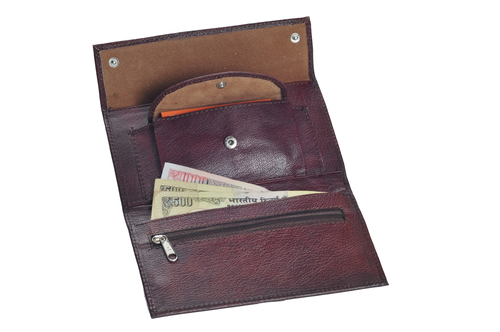 Ladies Goat Leather Wallet (X908)