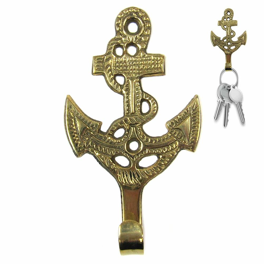 Solid Brass Anchor Key Holder