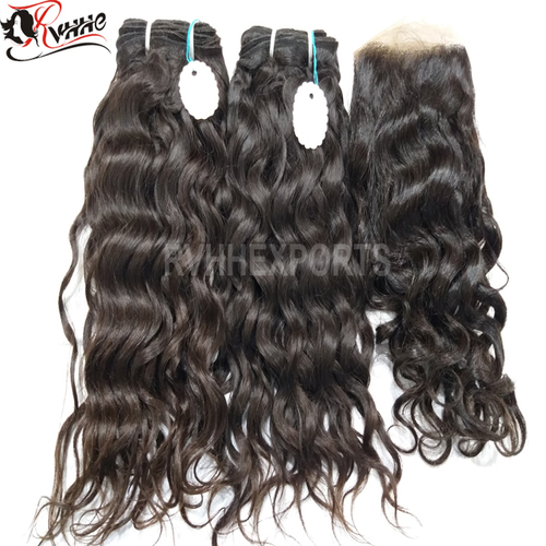 100% Natural Virgin Remy Import Temple Human Hair