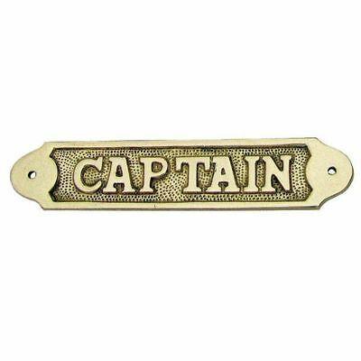 Solid Brass Door Sign (100) Captain