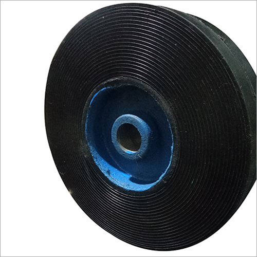 8X2 Rubber Bounded Trolley Wheel
