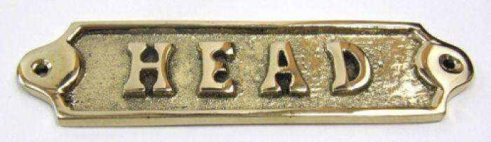 Solid Brass Door HEAD Sign