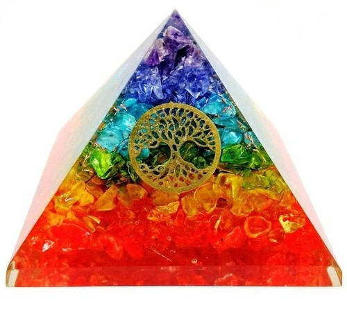 Agates Orgone Pyramid With Symbol