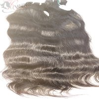 Double Drawn Weft Remy Virgin Slavic Hair Natural Human Hair Weave