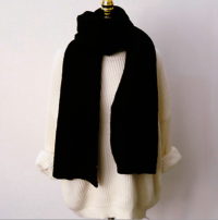 Solid color knitted scarf