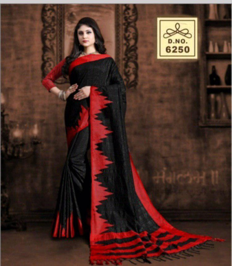 Raw Silk Saree With Georgette Blouse