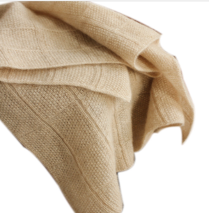 Jacquard knitted scarf