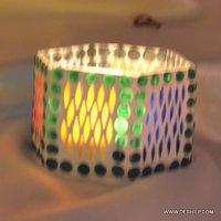 Multi Mosaic Glass Sml T Light Votive