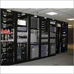Computer Rack, Switches and LAN Wire