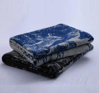 Jacquard knitted blanket