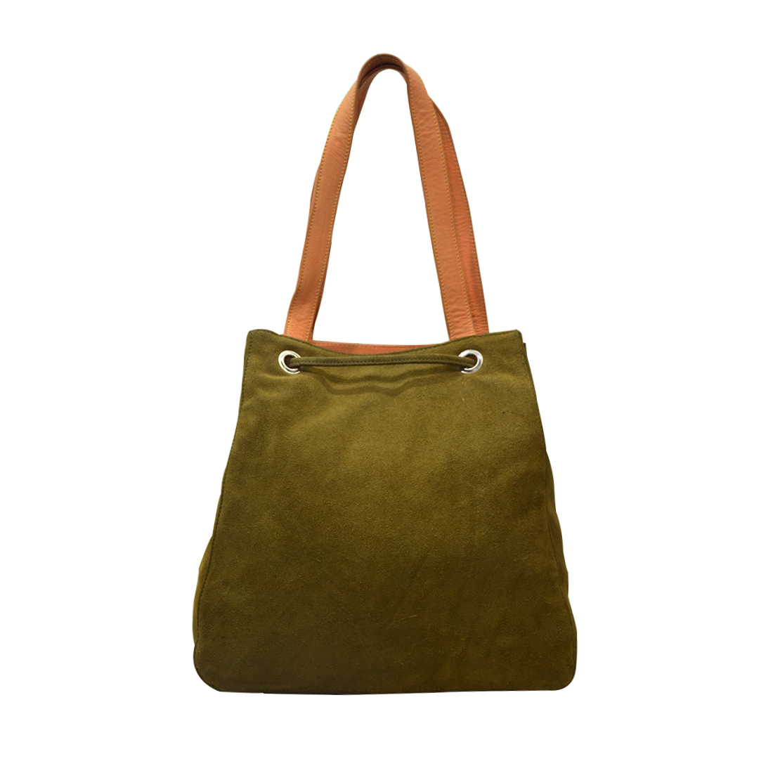 Leather Drawstring Shoulder Bag