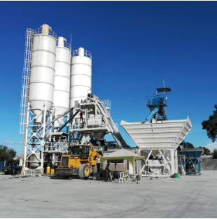 80 m³/h Mobile concrete batching plant MBP20