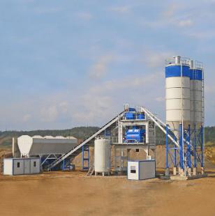 90m3/h sationary concrete batching plant