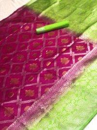 Kanchipuram spun silk saree
