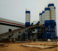 180m3/h stationary ready concrete batching plants HZN180