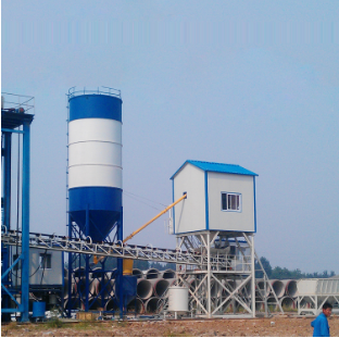 Cement pipe concrete mixing plant