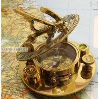 NAUTICALMART Brass Sundial Compass 3