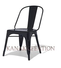 Tolix Chair in Matte Black
