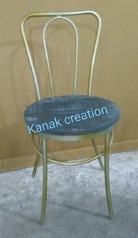 Special Tolix chair with wooden top.
