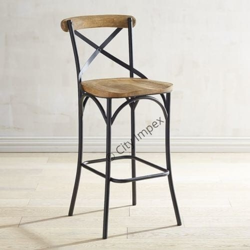 Industrial Cross Back Stool