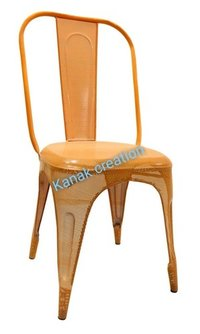 Tolix Chair in Matte Orange
