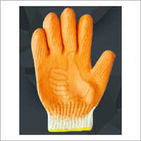 Latex Cotton Coated Glove