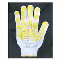 Cotton PVC Dotted Glove