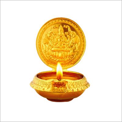Medium Gajalakshmi Brass Diya