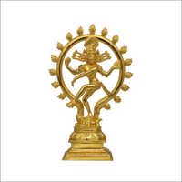 10 Inch Gold Plated Nataraja Idol