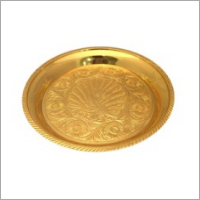 5.5 Inch Peacock Brass Pooja Plate