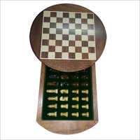 Sheesam Wood Round Magnetic Chess