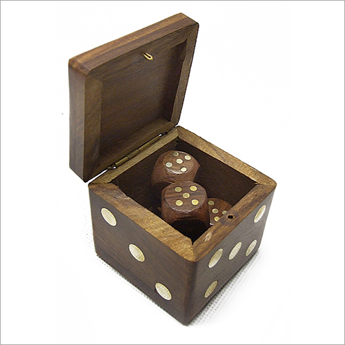 Sheesham Wooden Domino Dice