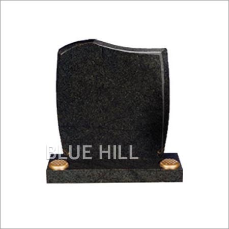 Half Peon Top -Rounded Sides and Chamfered Granite Monument